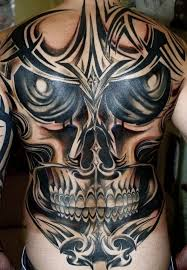 cool mens tribal skull back tribal tattoos for