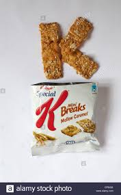 packet of kellogg s special k mini breaks mellow caramel with