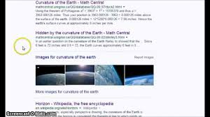 curvature of the earth google disinfo not 8