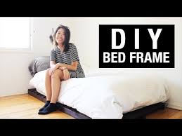 How To Make A Twin Platform Bed Cheap by Diy Twin Bed Frame On A College Student U0027s Budget Youtube