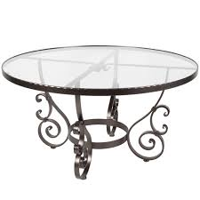 round table san carlos ow lee san cristobal 54 inch round glass top dining table