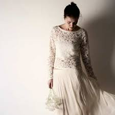 lace top wedding dress lupin sleeve lace top larimeloom