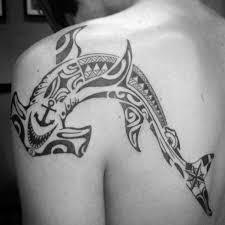 50 tribal shark tattoo designs for men sea dweller ideas
