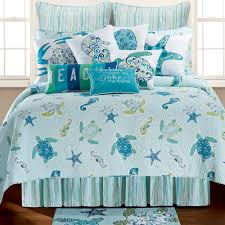 Coastal Themed Bedding Bed U0026 Bedding Assorted Seashells Beach Themed Bedding In White