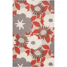 tepper jackson hand tufted contemporary red grey floral dreamscape