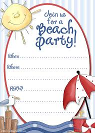 Example Of Invitation Card For Birthday Stirring Beach Birthday Party Invitations Theruntime Com