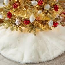 faux fur tree skirt small faux fur tree skirt christmas tree decorations brylanehome