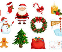 various christmas tree elements vector graphics set 02 vector