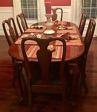 Dining Room Table 6 Chairs Ethan Allen Dining Room Ebay