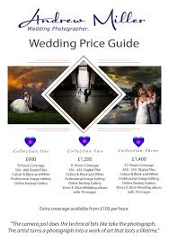 wedding photographer prices disc only wedding photography from andrew miller photography