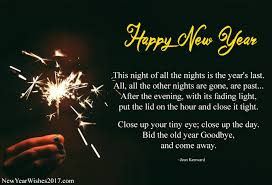 beautiful happy new year poems in for family and friends