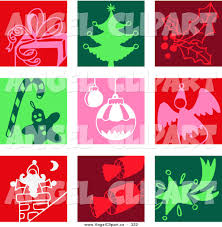 clip art of a festive digital collage of colorful gift christmas