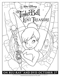 tinker bell lost treasure coloring printables