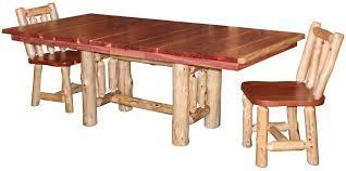 rustic log dining room tables cedar log dining room table