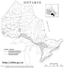 blank political map of canada ontario blank map