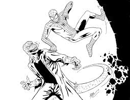 spiderman cartoon coloring pages easy spiderman coloring pages