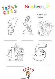 english teaching worksheets numbers