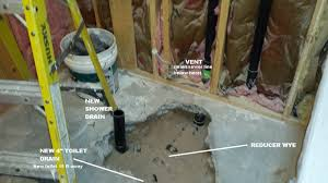 Installing Basement Shower Drain by No P Trap For New Shower Contractor Says Ok Terry Love Plumbing