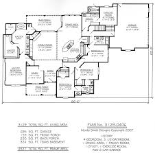 House Blueprints by One Story Four Bedroom House Plans Story 4 Bedroom 3 5
