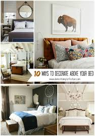 how to decorate pictures 10 ways to decorate above your bed domestic imperfection