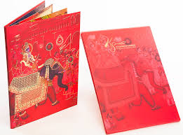 royal wedding cards indian wedding card in pink and royal procession image