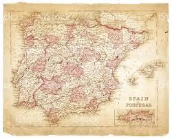 Map Of Spain And Portugal Map Of Spain And Portugal 1863 Stock Vector Art 533345031 Istock