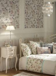 Shabby Chic Bird Cages by Modern Inspiration Amethyst Leaf Cushion Vintage Wallpaper Uk