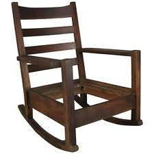 Rocking Chair Antique Styles Arts U0026 Crafts Mission Style Rocking Chairs Antique Furniture Ebay