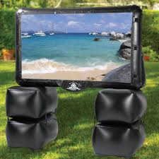 inflatable home theater system the outdoor inflatable theater hammacher schlemmer