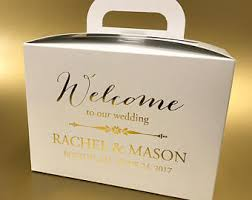 wedding welcome boxes wedding welcome box etsy