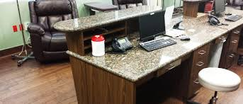 Granite Reception Desk Apollo Hospital Medical Office Reception Desk U0026 Fixtures