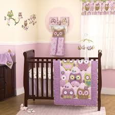 brown wooden baby bed white bedding with purple blanket brown bedroom brown wooden baby bed white bedding with purple blanket floor pink cream wall and