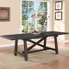 Solid Wood Dining Room Sets Modus Yosemite Solid Wood Rectangular Extension Table Cafe