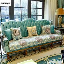 non slip cover for leather sofa european style luxurious sofa mats cloth sofa cushion living room