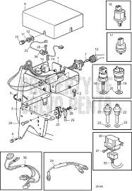 volvo penta exploded view schematic electrical system ad31l a