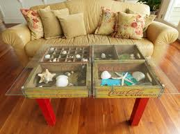 how to make a coffee table out of pallets how to make a table using old wood soda crates diy