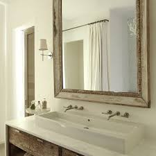 Adobe Bathrooms Rustic Bathroom Vanity Rustic Bathroom With Wood Mirror Over