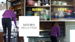 kitchen declutter speed cleaning before u0026 after youtube