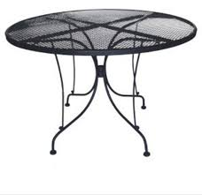 Charleston Outdoor Furniture by Dc America Charleston Round Wrought Iron Table U0026 Reviews Wayfair