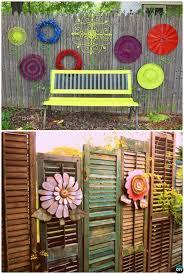 Backyard Fence Decorating Ideas by Backyard Garden Fence Decoration Makeover Diy Ideas