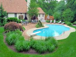 Small Backyard With Pool Landscaping Ideas Swimming Pool Landscape Designs Novicap Co