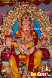 home decoration of ganesh festival bright colored ganpati decoration with garlands gharexpert