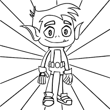 Beast Boy Coloring Pages Robertjhastings Net Boy Color Pages