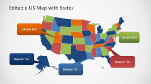America Map With States by Editable Us Map Template For Powerpoint With States Slidemodel