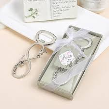 wedding favors bottle opener infinity forever design silver metal wedding favor bottle opener