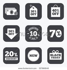 black friday sale signs sale discounts icon shopping black friday stock vector 362216630