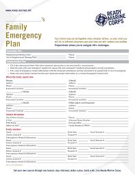 Emergency Preparedness Worksheet A Family Emergency Plan