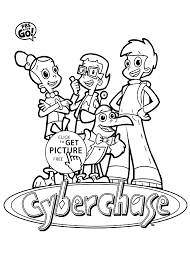 cyberchase coloring pages for kids printable free cartoons