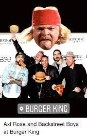Backstreet Boys Meme - hatea belvedere vo dka bsb burger king burger king meme on me me