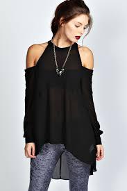 shoulder cut out blouse isabelle high neck cut out shoulder blouse mais trapos que gosto